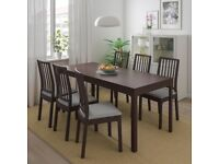IKEA Ekedalen Dining Set - Table (extendable) - 2 Chairs - 1 Bench - EXCELLENT CONDITION