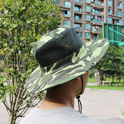 92cc9eb7 Breathable Summer Sun Hat Camouflage Boonie Cap Fishing Hat for Men Women
