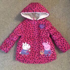 Peppa pig girls coat age 2-3 years