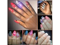 Hard gel extensions £27 incl unlimited nail art