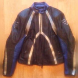 Dainese Women's T-Age Leather Motorcycle Jacket - Size EUR 48, Blue