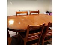 Extendable Dining table with 5 chairs