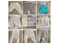 Baby boys tiny baby clothes bundle
