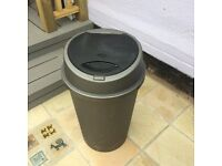 Large grey/silver plastic click-top kitchen bin