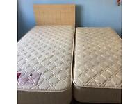 "3ft Single bed with 2'6"" guest bed"