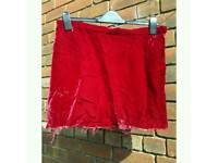 Red Velvet Mini-Skirt size 14