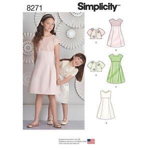 SIMPLICITY-PATRoN-DE-COSTURA-NINO-amp-NINA-039-VESTIDO-amp-CHAQUETA-TALLA-3-14-8271