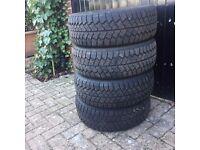 4x snow/winter tyres 185/60R/14