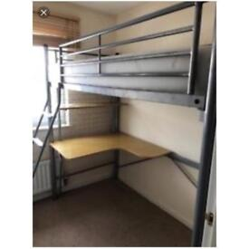 High sleeper with desk good condition