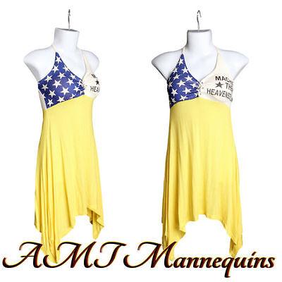 Six Female Half Body Mannequin Torso Size S 6 White Dress Forms- A-2w