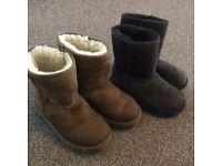 BUNDLE OF X2 GIRLS UGG AUSTRALIA BOOTS SIZE UK 12 FOR SALE £25
