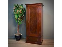 Attractive Antique Victorian Single Mahogany Wardrobe Drawer Base Hall Cupboard