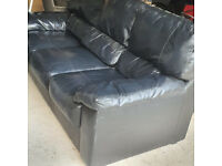 Black 3 seater sofa for sale