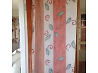 Door curtain. With hooks and wooden rings. Help stop winter draughts.