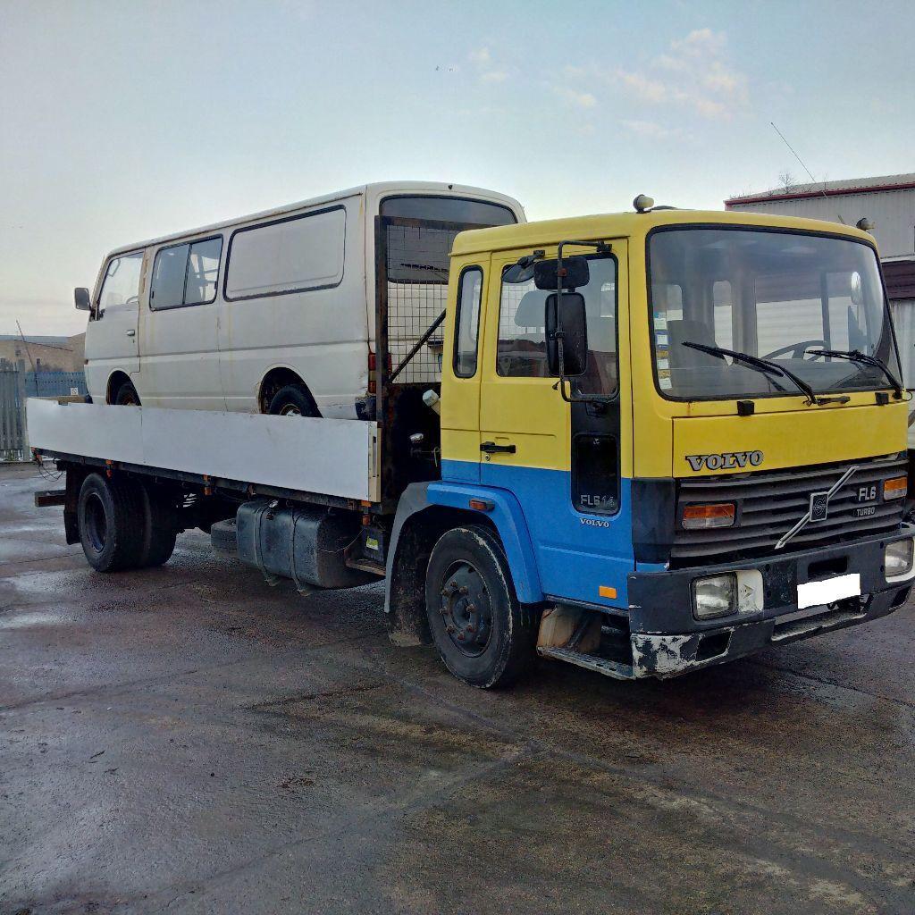 Left hand drive Volvo FL6 14 Ton truck. 6 cylinder engine.