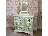 Small chest of drawers with mirror