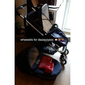 *PRICE DROP* limited edition baby buggy icandy cherry union jack travel system carry cot pushchair