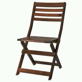 ikea applarö garden chair foldable