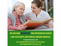 New launch healthcare agency looking for HCA, Nurses across Anglia.