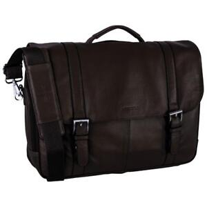"""Nextech NXT1027 050 15.6"""" Leather Laptop Briefcase - Brown (New Other)"""
