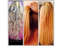 hair extensions and weft