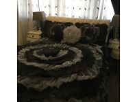 I got a full set of bedding with candles, hearts, rug and certain.