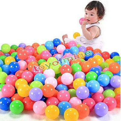 Colorful Simple 100 pcs Ball Soft Plastic Ocean Balls Baby Kid Toy Swim Pit Toy