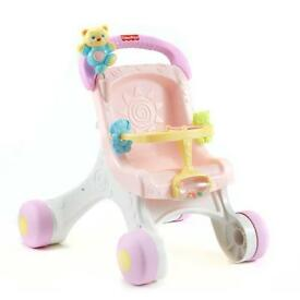 Pink fisherprice pushchair walker