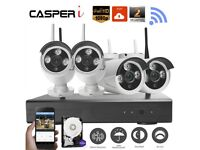 2MP 1080p 4CH Wifi kit HD Wireless Security Camera CCTV NVR System with HDD