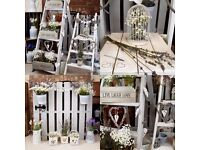Shabby Chic dressed wedding package FOR HIRE £100