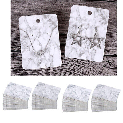 200 Pieces Marble Earring Packing Cards Set With Hanging Holder Tags