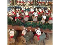 Christmas log reindeer our shop is open every day from 10-4