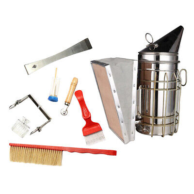 Starter Kit Beekeeping Tools Kit Bee Hive Smoker Beekeeper Equipment Beehive