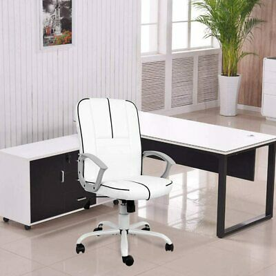 Office Chair Armless Swivel Office Desk Chair Executive Bonded Leather Computer