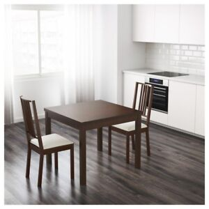 IKEA bjursta table + 4 chairs / 4 chaises
