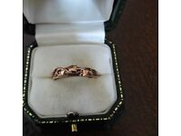 9CT YELLOW AND ROSE GOLD CLOGAU TREE OF LIFE RING