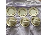 """3 Cups, 3 Saucers and 3 Side Plates from the """"Lynsdale"""" Royal Standard Fine Bone China"""