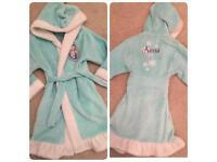 FROZEN dressing gown nightwear 5-6 Disney pj's