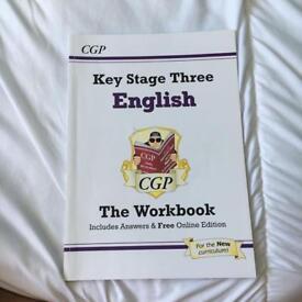 KS3 English maths and science work books