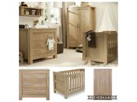 Bordeaux solid oak nursery furniture set