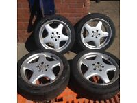 """Mercedes A C E S AMG alloys & tyres original 17"""""""