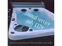 Hot tub annual service