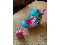 Barbie Helicopter, Barbie, suitcase & accessories