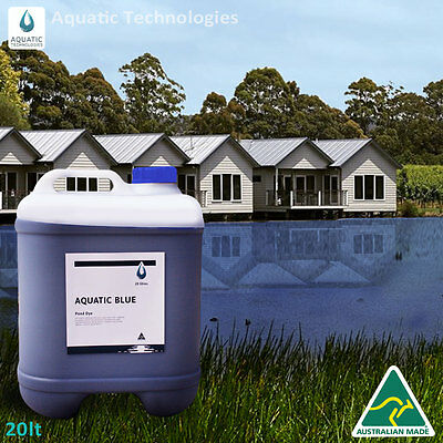 Aquatic Blue Pond Dye 20 Litre   Aquatic Weed   Algae Growth Suppressant