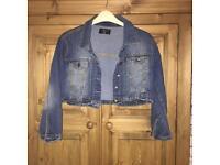 Cropped denim jacket 14