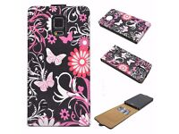 Card Slot Rubber Cover Case Holster Pouch Stand For Samsung Galaxy Note 4 IV
