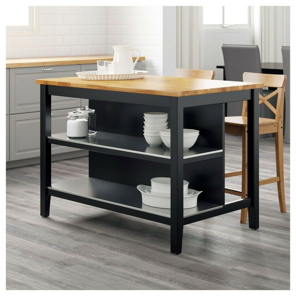 Kitchen Islands Ikea: Kitchen Island - Ikea STENSTORP (Black)