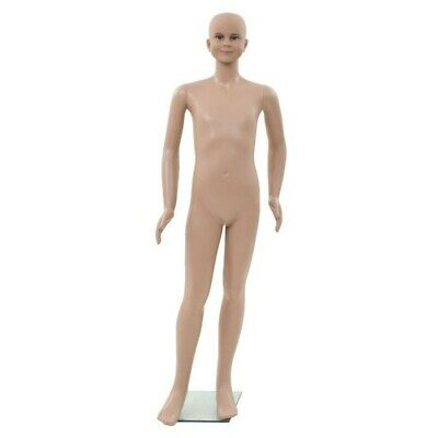 Vidaxl Full Body Child Mannequin Dress Form Display With Glass Base 55.1 New