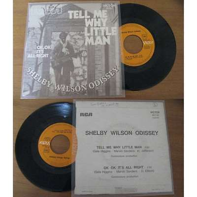 SHELBY WILSON ODISSEY - Tell Me Why Little Man Rare French PS Rock 71