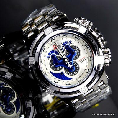 Invicta Reserve JT Bolt Hybrid Master Calendar High Polished Steel Watch LE New